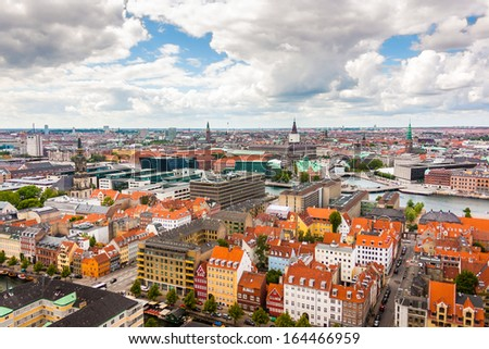 Copenhagen City, Denmark, Scandinavia - stock photo
