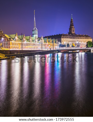 Copenhagen, Denmark at Christiansborg Palace. - stock photo