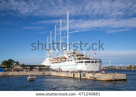 Copenhagen Denmark August Cruise Stock Photo - Cruise ship copenhagen