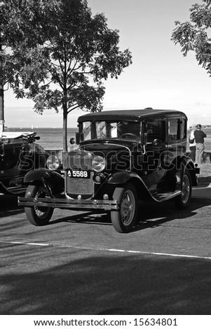 COPENHAGEN, DENMARK - JULY 7: Ford vintage car show in Copenhagen, July 7, 2008 - stock photo