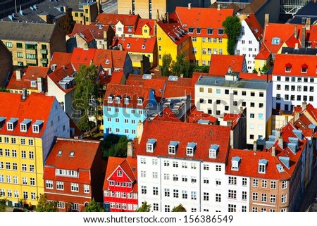 Copenhagen, Denmark residential buildings. - stock photo