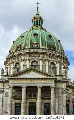 COPENHAGEN: Frederik's Church, popularly known as The Marble Church, Denmark. - stock photo