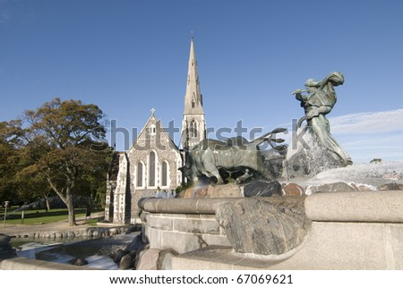 Copenhagen - Gefion Fountain - stock photo