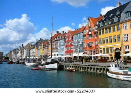 Copenhagen Harbor - stock photo