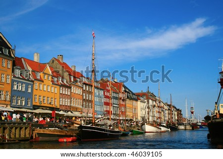Copenhagen in a sunny summer day - stock photo