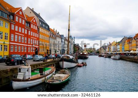 copenhagen nyhavn - stock photo