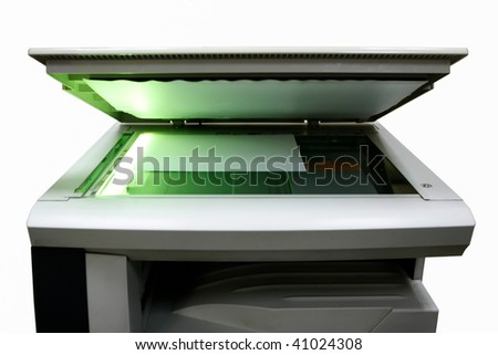 copier on a white background. Isolated - stock photo