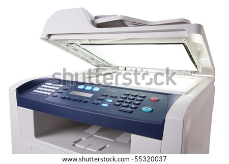 copier with a bright light inside