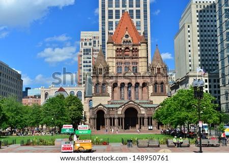 Copley Square, Boston, MA, USA - stock photo