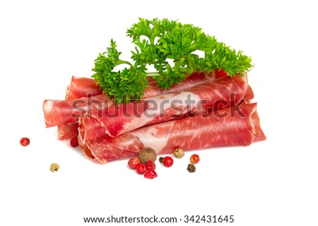 Coppa di Parma ham - stock photo
