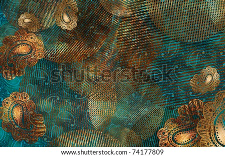 Copper cucumbers - stock photo