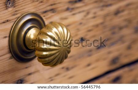 Copper door knob - stock photo