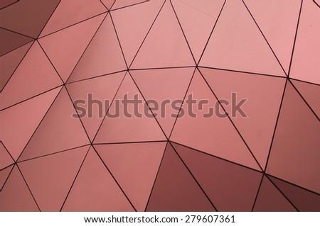 copper facade - stock photo