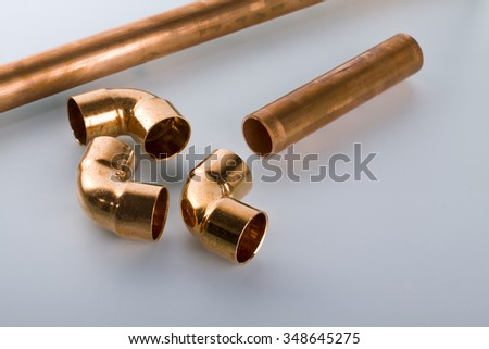 Copper fittings and tools.