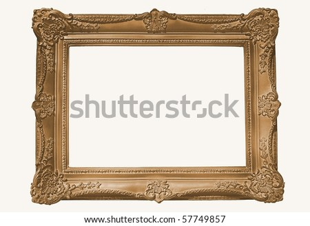 Copper/Gilt Frame, Blank For Your Copy - stock photo