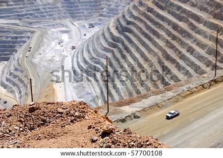 Copper Mine Close-up - stock photo