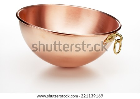 Copper Mixing Bowl - stock photo