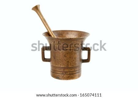 copper mortar - stock photo