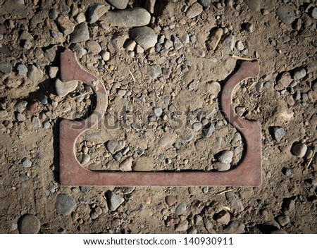 copper parts amid rubble - stock photo