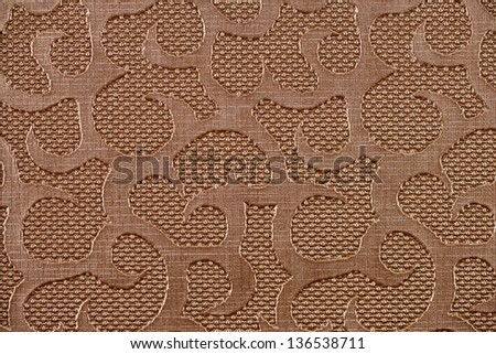Copper synthetic leather with embossed texture - stock photo