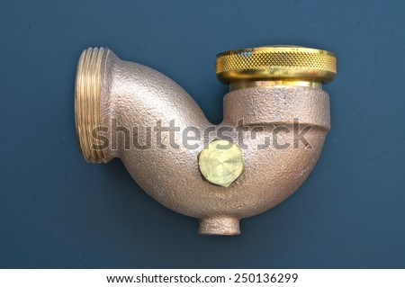 copper water pipe  - stock photo