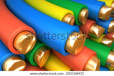 Copper Wire Cable Vinil Environment Industrial Stock Illustration ...