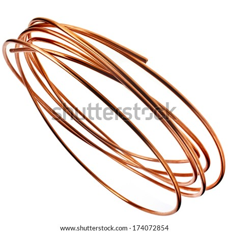 Copper Wire Pipes Isolated On White Stock Photo 174072854 - Shutterstock