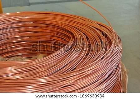Copper Wire Rod Stock Photo (Safe to Use) 1069630934 - Shutterstock