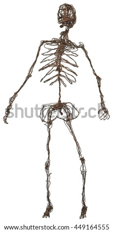 copper wire skeleton