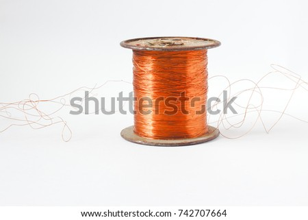 Copper Wire Spool Red Insulated Wire Stock Photo (Edit Now ...
