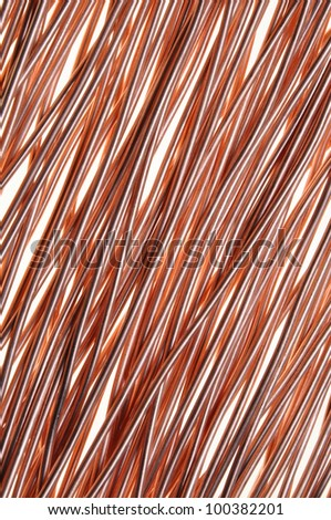 copper wire symbol of energy and technology - stock photo