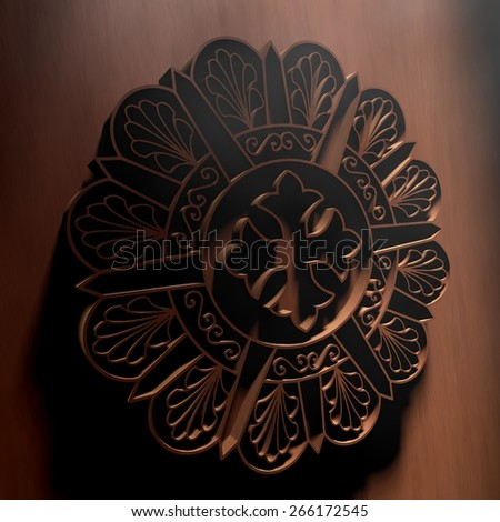 Coptic art - stock photo