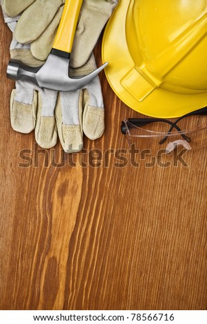 copu space background of construction tools - stock photo