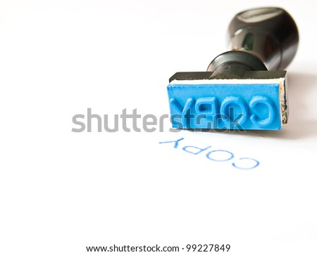 COPY rubber stamp - stock photo