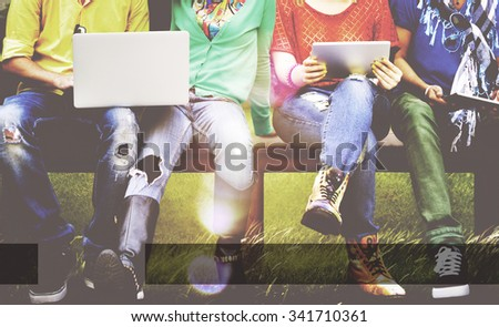 Copy Space Blank Browsing Rectangle Interface Concept - stock photo