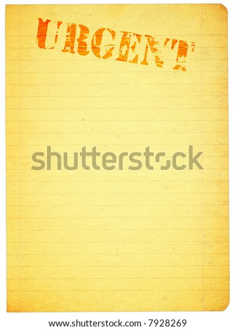 copy space for urgent content, all isolated on pure white background