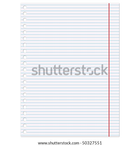 Copybook page - an illustration for your design project.
