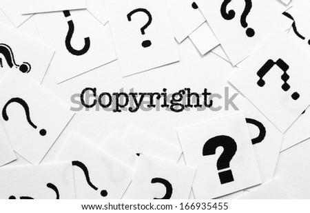 Copyright - stock photo