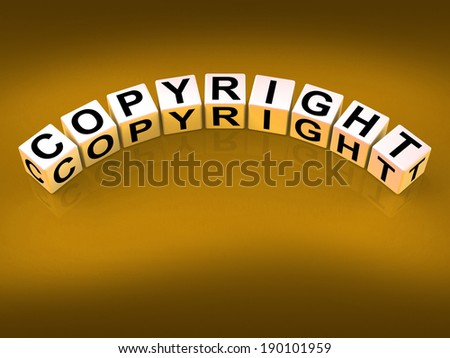 Copyright Blocks Showing Patent and Trademark for Protection - stock photo