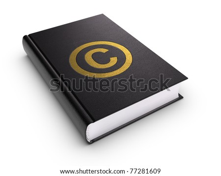 Copyright Book. Clipping path included.