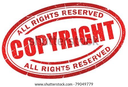 Copyright grunge symbol - stock photo