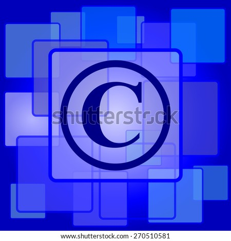 Copyright icon. Internet button on abstract background.  - stock photo