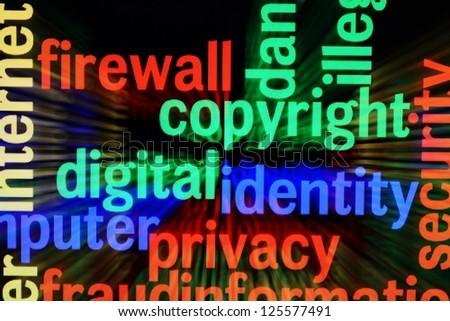 Copyright identity privacy - stock photo