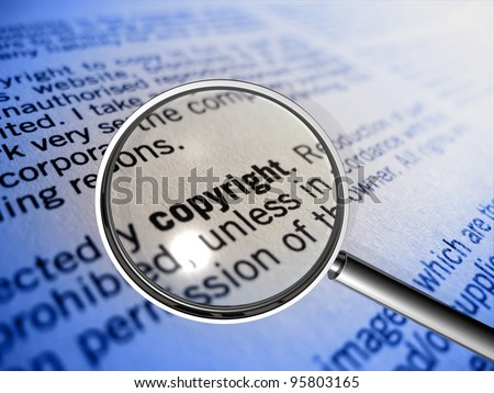 copyright in focus of a magnifier