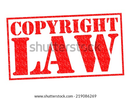 COPYRIGHT LAW red Rubber Stamp over a white background. - stock photo