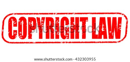 copyright law stamp on white background. - stock photo