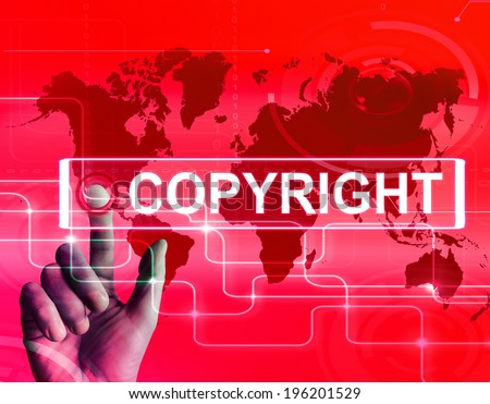 Copyright Map Displaying International Patented Intellectual Property - stock photo