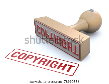 Copyright rubber stamp - stock photo