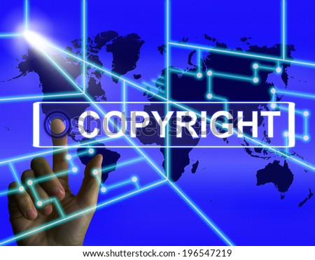 Copyright Screen Meaning International Patented Intellectual Property - stock photo