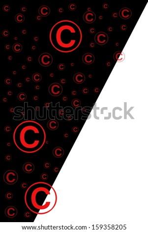 copyright sign - stock photo